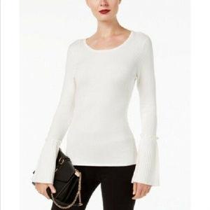 INC Women's Plus Size Bell-Sleeve Sweater, XXL